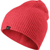 Nike Womens Heather Knit Beanie Red
