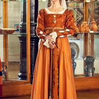Borgia Renaissance gown Italian fashion. 15th century women dress Lucrezia Borgia style.!!!ONLY TO ORDER!!!