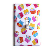 Cupcakes Single Toggle Switch Plate, wall decor