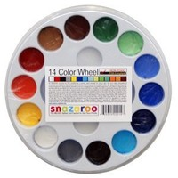 14 Color Face Painting Walk around Wheel snazaroo