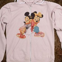 Mickey And Minnie Zip Up Sweater - Tee Time Baby