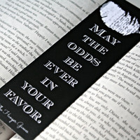 Hunger Games Bookmark  The Hunger Games Quote by NeverMorePrints