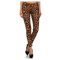 Leopard Print Leggings, Brown