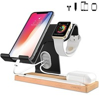 3 in 1 For Apple Watch Stand Airpods Accessories iPhone 8 Charger Dock Station