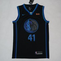 Men's Dallas Mavericks Dirk Nowitzki Nike Anthracite 2018/19 Swingman Jersey – City Edition - Best Deal Online