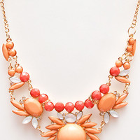 Charade Necklace - Coral - One