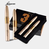 Learnever Liquid 3d Mascara Fiber+Mascara Long Natural Thick Encryption Waterproof Mascara Eyelash Extension Curly Beauty Makeup