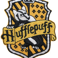 Hufflepuff Hogwarts' House Crest Harry Potter Embroidered Iron On Badge Applique Patch