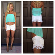 """Reck""""Lace"""" Shorts - WHITE"""