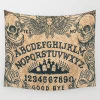 Ouija Board Wall Tapestry by Amaman