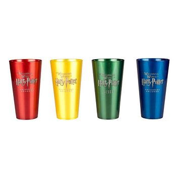 Universal Studios Harry Potter House Crest Four Pack Tumbler New with Box