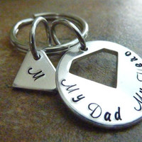 Father's Day Personalized Superman Keychain Superman SuperDad Key ring