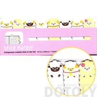 Alpaca Sheep Shaped Animal Themed Memo Pad Post-it Index Sticky Tabs