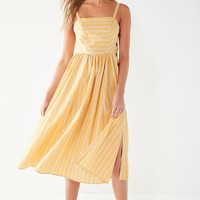 UO Kaye Square-Neck Button-Down Midi Dress | Urban Outfitters