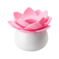 CNIM Hot 1 x Lotus Cotton Bud Stick Swab Makeup Storage Box Holder Cosmetic Bath Decor Gift, S Pink