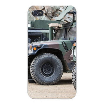 Apple Iphone Custom Case 4 4s Snap on - Army Military Vehicle Camo Truck