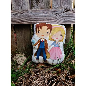 Ten and Rose Double Pillow Pal. Doctor Who.
