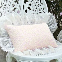 Pink and Creme Everyday Victorian Lace Pillow