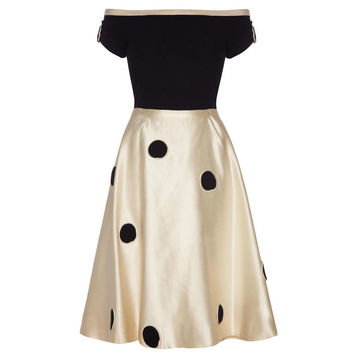 1950's Monochrome Top and Skirt Set