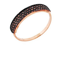 14k Solid Gold Ring With Black Signity Cubic Zirconia Stones