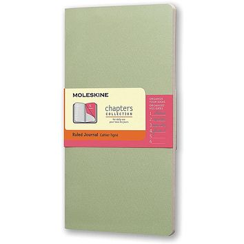 Moleskine Chapters Collection Ruled Slim Large Journal - Mist Green