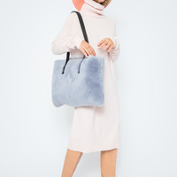 RYAN ROCHE | Turtleneck Tunic Dress-Pale Apricot