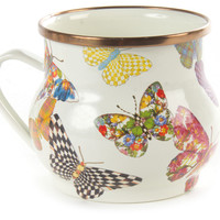 Butterfly Garden Mug, Coffee Mugs