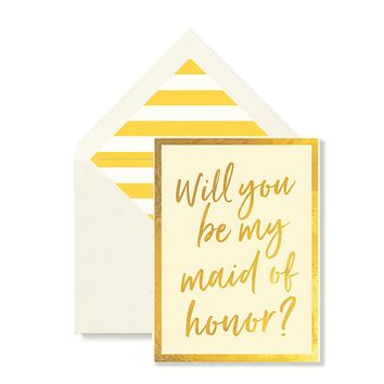 Will You Be My Maid Of Honor Greeting Card, Single or Boxed Set of 8