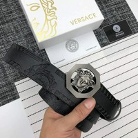 Versace 2018 new trend wild men and women models smooth buckle pants belt