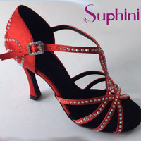 Free Shipping Professional Dance Shoes able to Design Your Crystal Suphini Nude Latin Salsa Shoes Woman Salsa Latin Dance Shoes