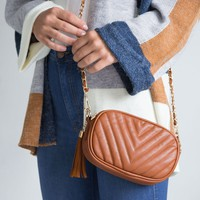 Aster Crossbody Bag - Camel
