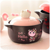 Cartoon Cute Small Ceramic Casserole Induction Ceramic Cooking Pots Soup Pot 1000ml