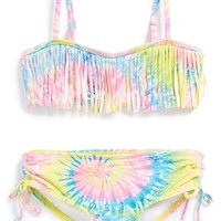Girl's Billabong 'To Dye For' Two-Piece Bandeau Swimsuit