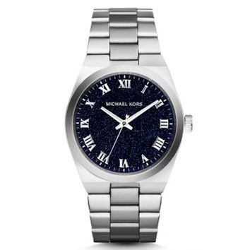 Channing Moonstone and Silver-Tone Stainless Steel Watch