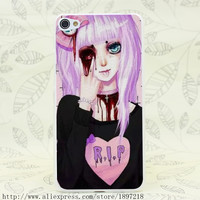 3707T Pastel Goth Hard Transparent Cover Case for Lenovo S60 S90 S850 A536 A328
