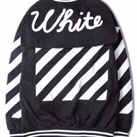 Off White Letterman Jacket