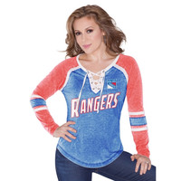 New York Rangers Touch by Alyssa Milano Women's Hat Trick Long Sleeve T-Shirt – Royal Blue