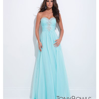 (PRE-ORDER) Tony Bowls 2014 Prom Dresses - Water Rhinestone Strapless Sweetheart Chiffon Gown