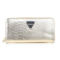 METALLIC PYTHON WALLET / GOLD