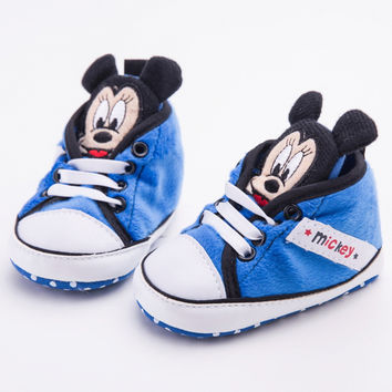 Cute Sweet Newborn Minnie Baby Shoes Infant Boys Girls Soft Soled Bottom Anti-slip Shoes Toddler Baby First walkers