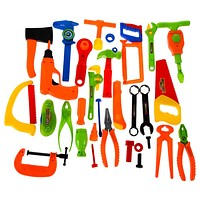 Baby Kids Toys 34PCS Repair Tools Toys Plastic Fancy Dress Instruments Toy Kit Tools Educational Learning Toys For Children