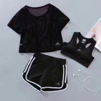 Adidas Sport Tank Top Bra Panty Shorts Underwear Three piece suit
