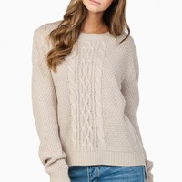 PHOEBE SWEATER IN TAUPE