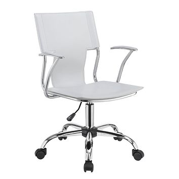 G801363 - Adjustable Height Office Chair - White And Chrome