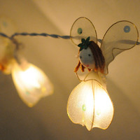 20 x fairy angel snow white butterfly string light by cottonlight