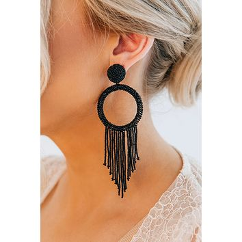 Your One And Only Hoop Earrings (Black)