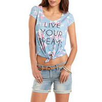 """Tie-Front """"Live Your Dreams"""" Tee: Charlotte Russe"""