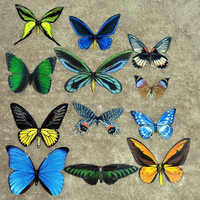 Butterfly Magnets Refrigerator Magnets Wholesale Lot of 12