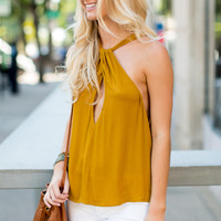 Free People Twist and Shout Tank Top - Gold