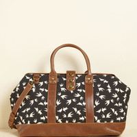 Revivals and Departures Weekend Bag in Flock | Mod Retro Vintage Bags | ModCloth.com